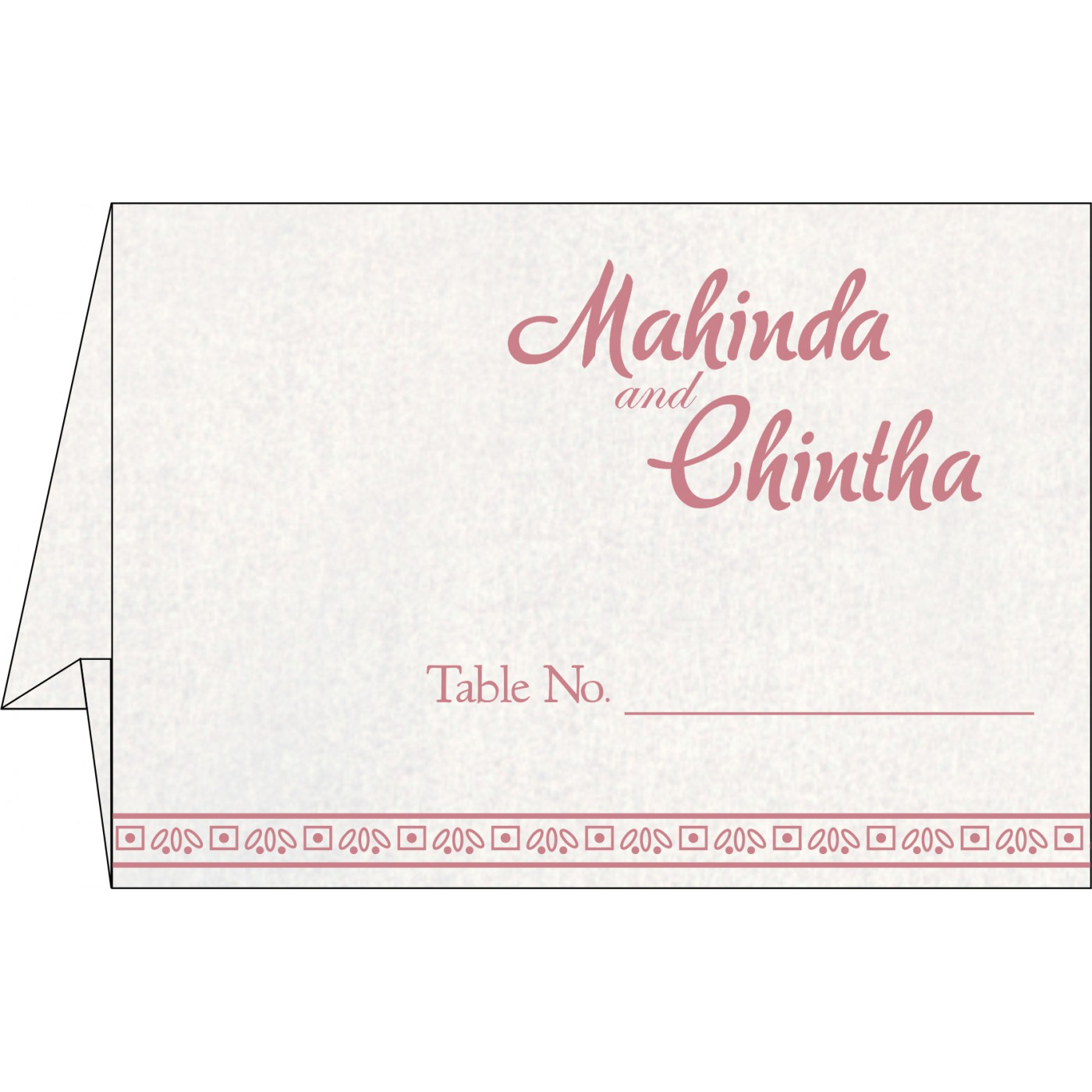 Table Cards : CTC-8241E - IndianWeddingCards