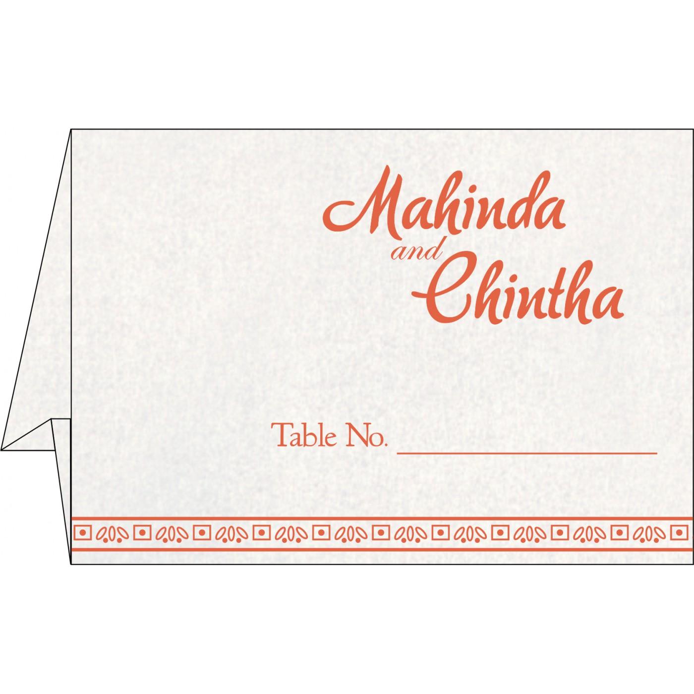 Table Cards : CTC-8241K - IndianWeddingCards