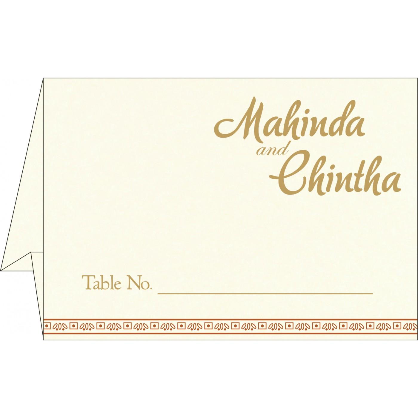 Table Cards : CTC-8242E - IndianWeddingCards