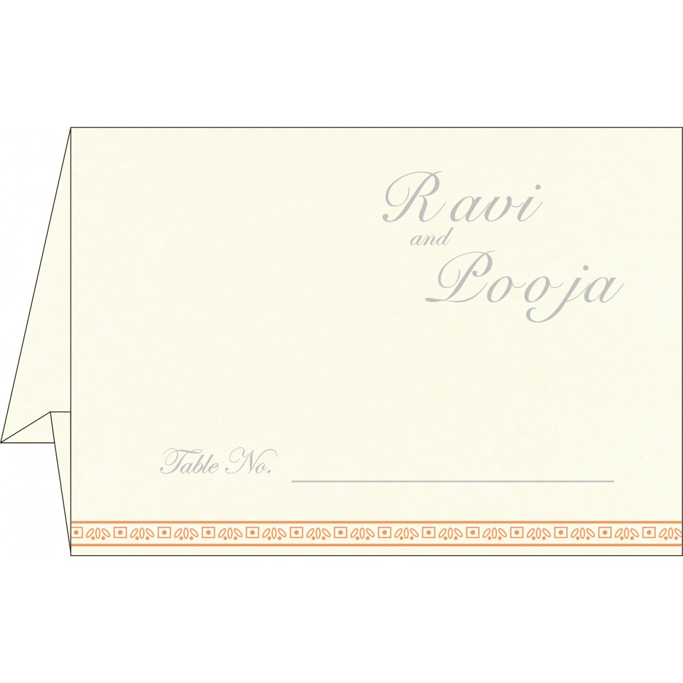 Table Cards : CTC-8242L - IndianWeddingCards