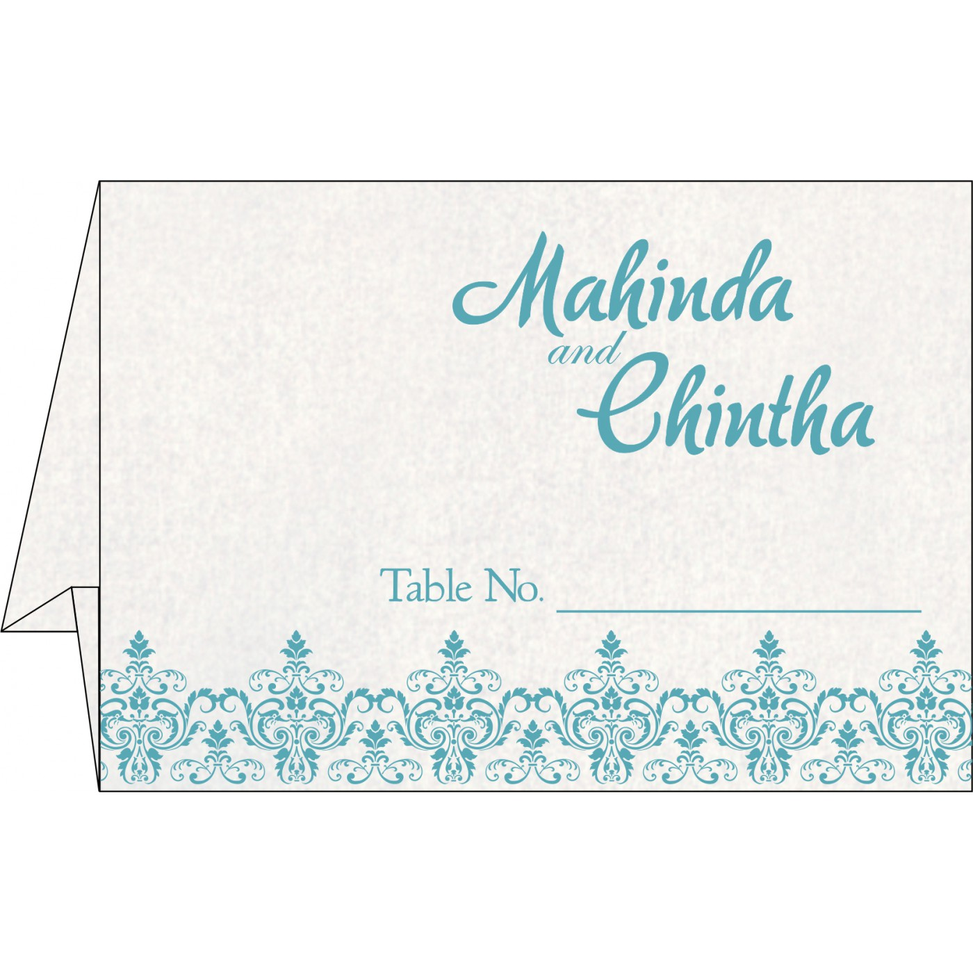 Table Cards : CTC-8244F - IndianWeddingCards