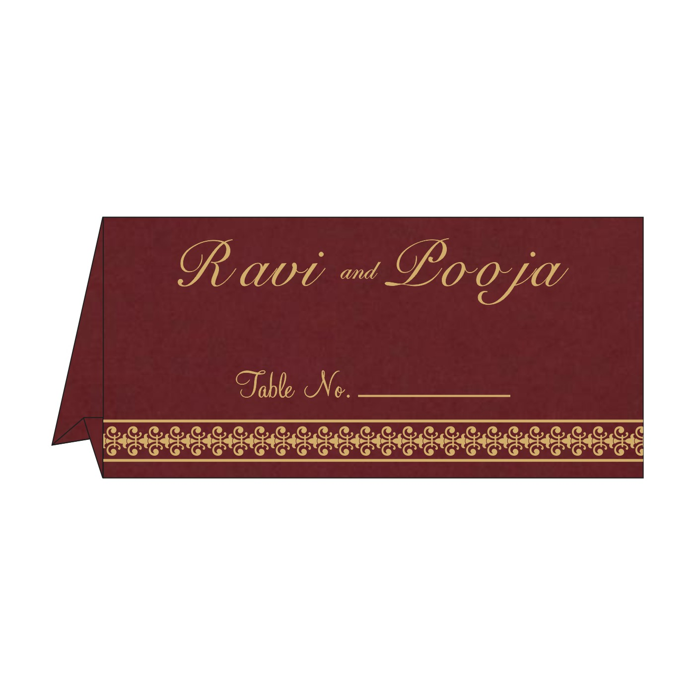 Table Cards : CTC-8247D - IndianWeddingCards