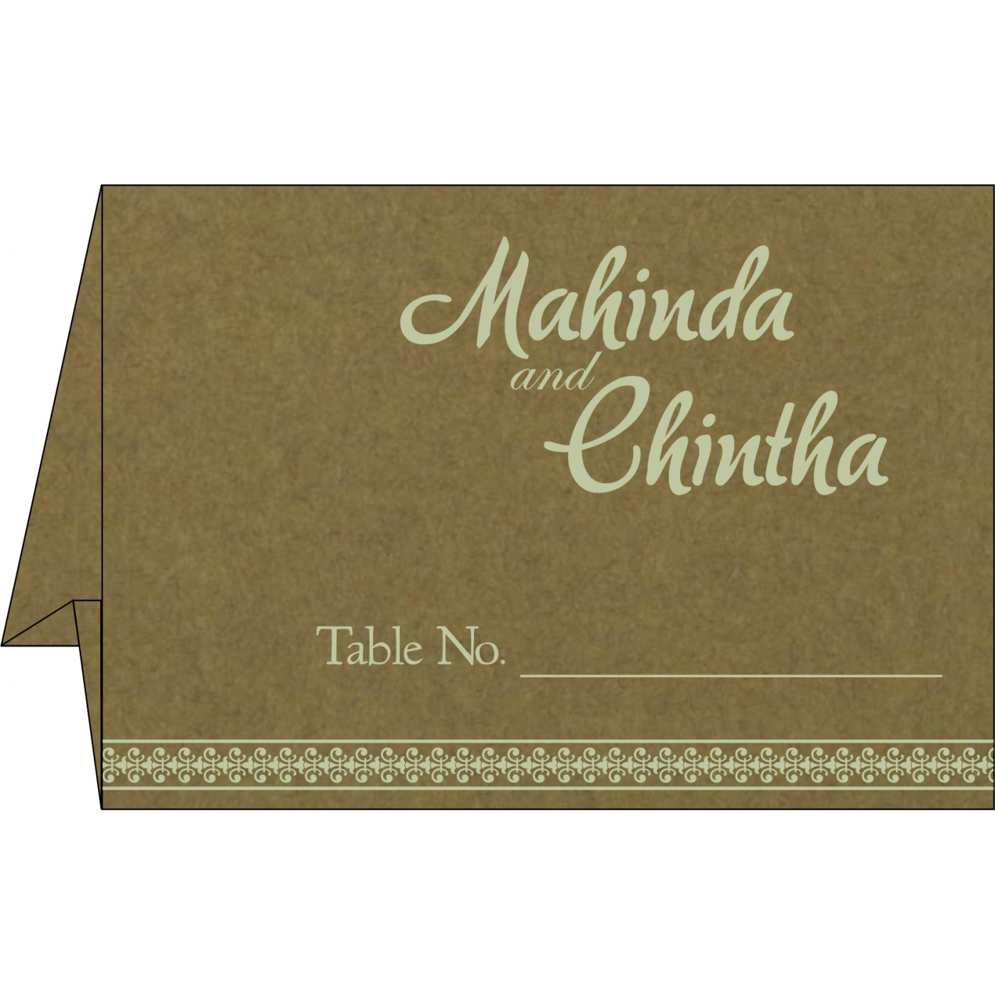 Table Cards : CTC-8247E - IndianWeddingCards