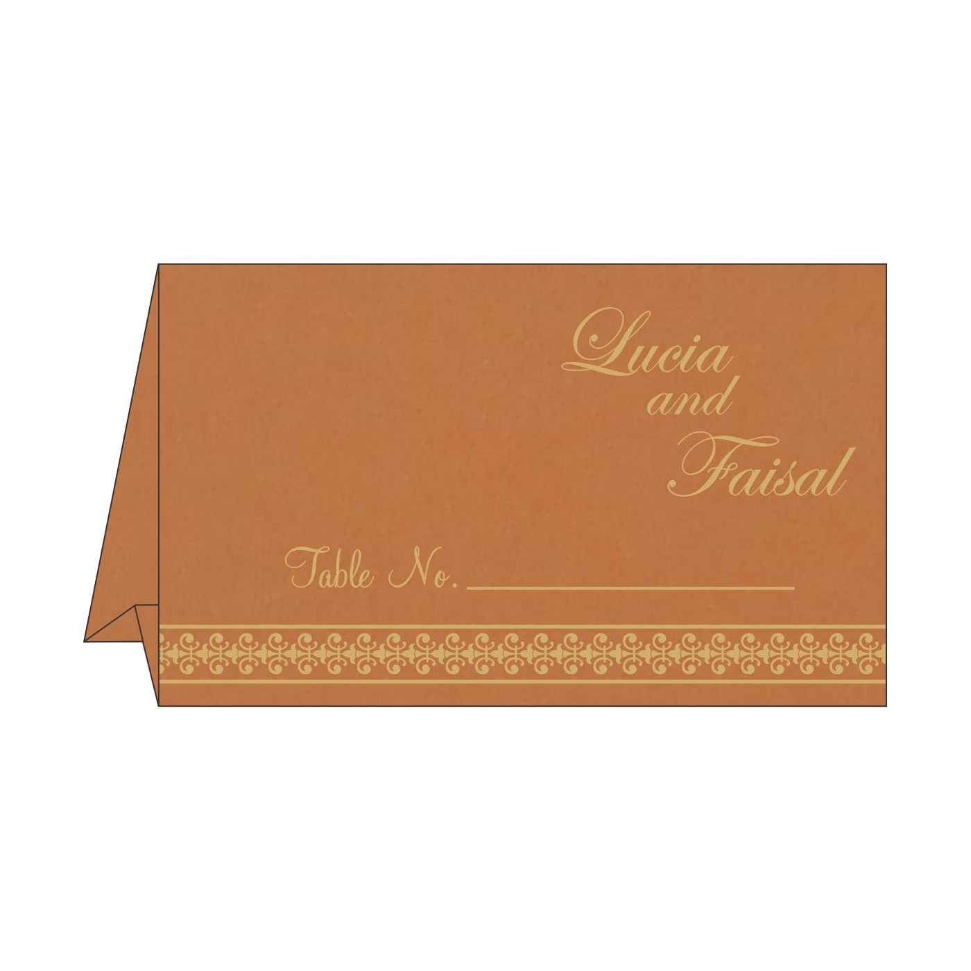 Table Cards : CTC-8247F - IndianWeddingCards