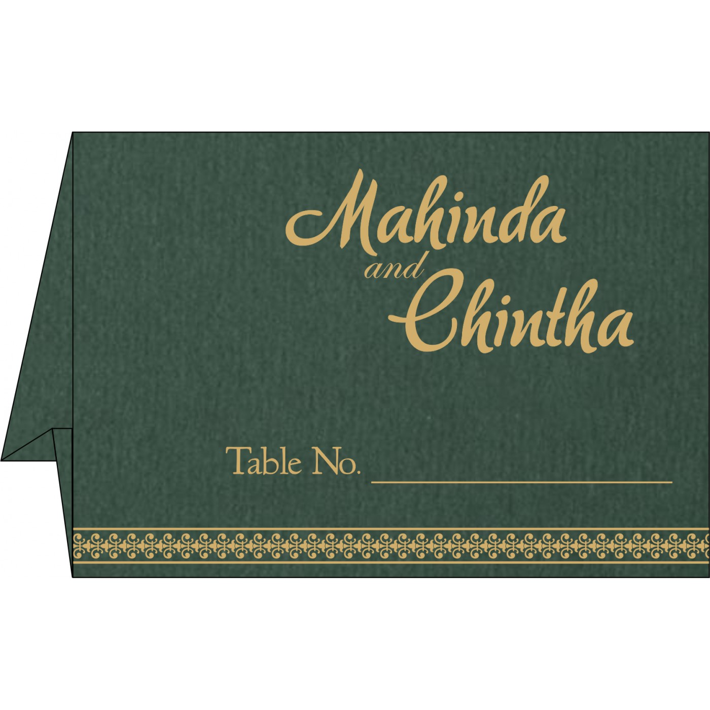 Table Cards : CTC-8247N - IndianWeddingCards