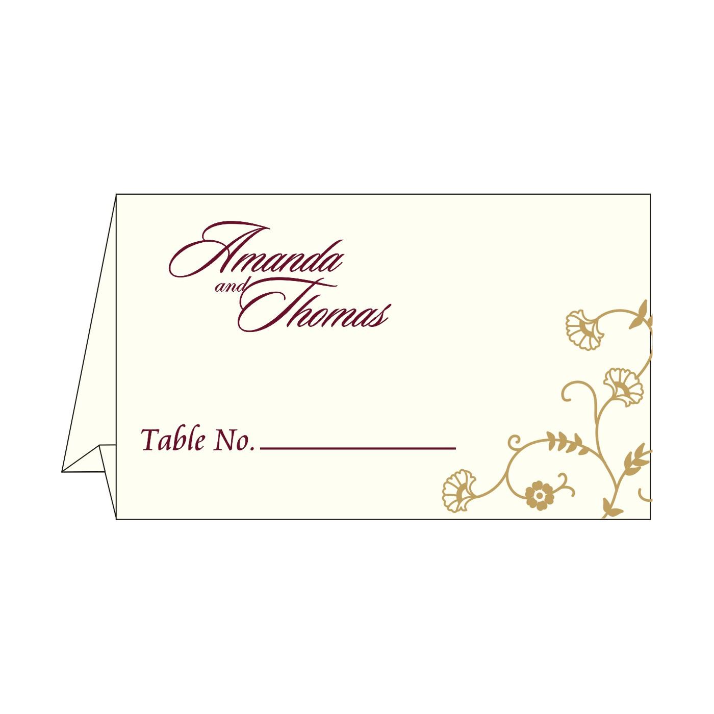 Table Cards : CTC-8248B - IndianWeddingCards