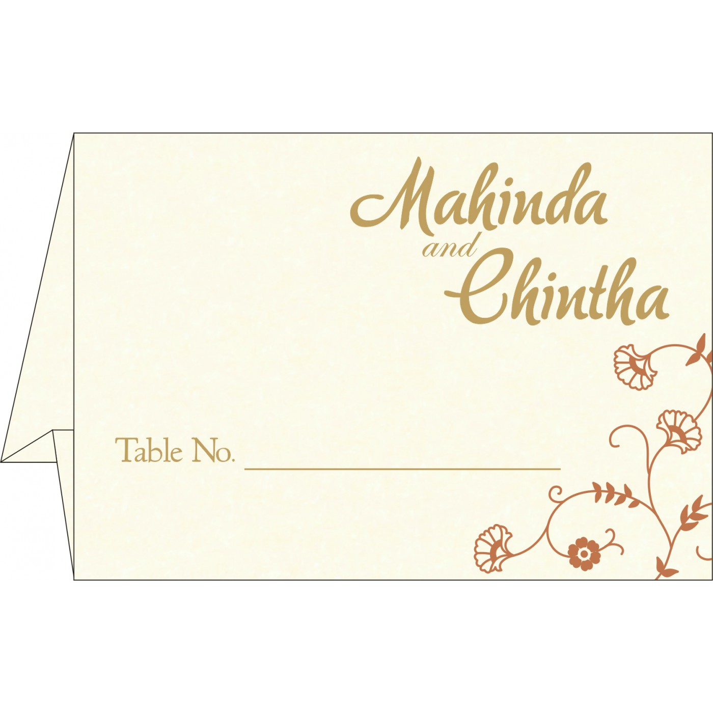 Table Cards : CTC-8248E - IndianWeddingCards