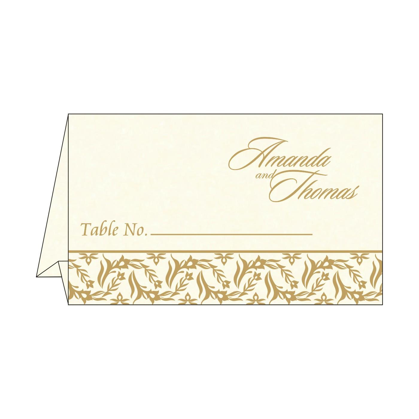 Table Cards : CTC-8249B - IndianWeddingCards