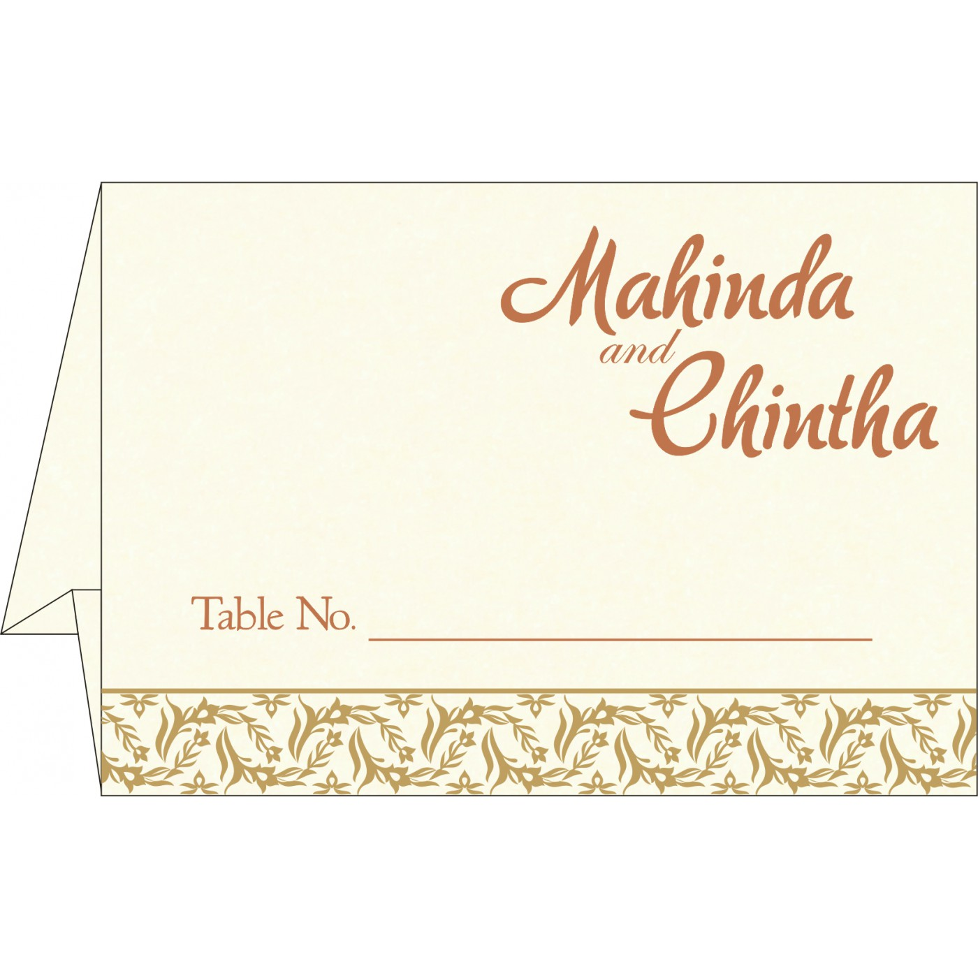 Table Cards : CTC-8249F - IndianWeddingCards