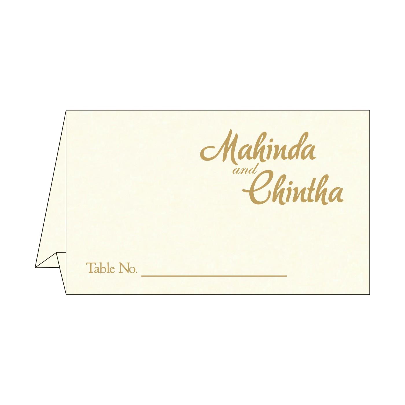 Table Cards : CTC-8249K - IndianWeddingCards