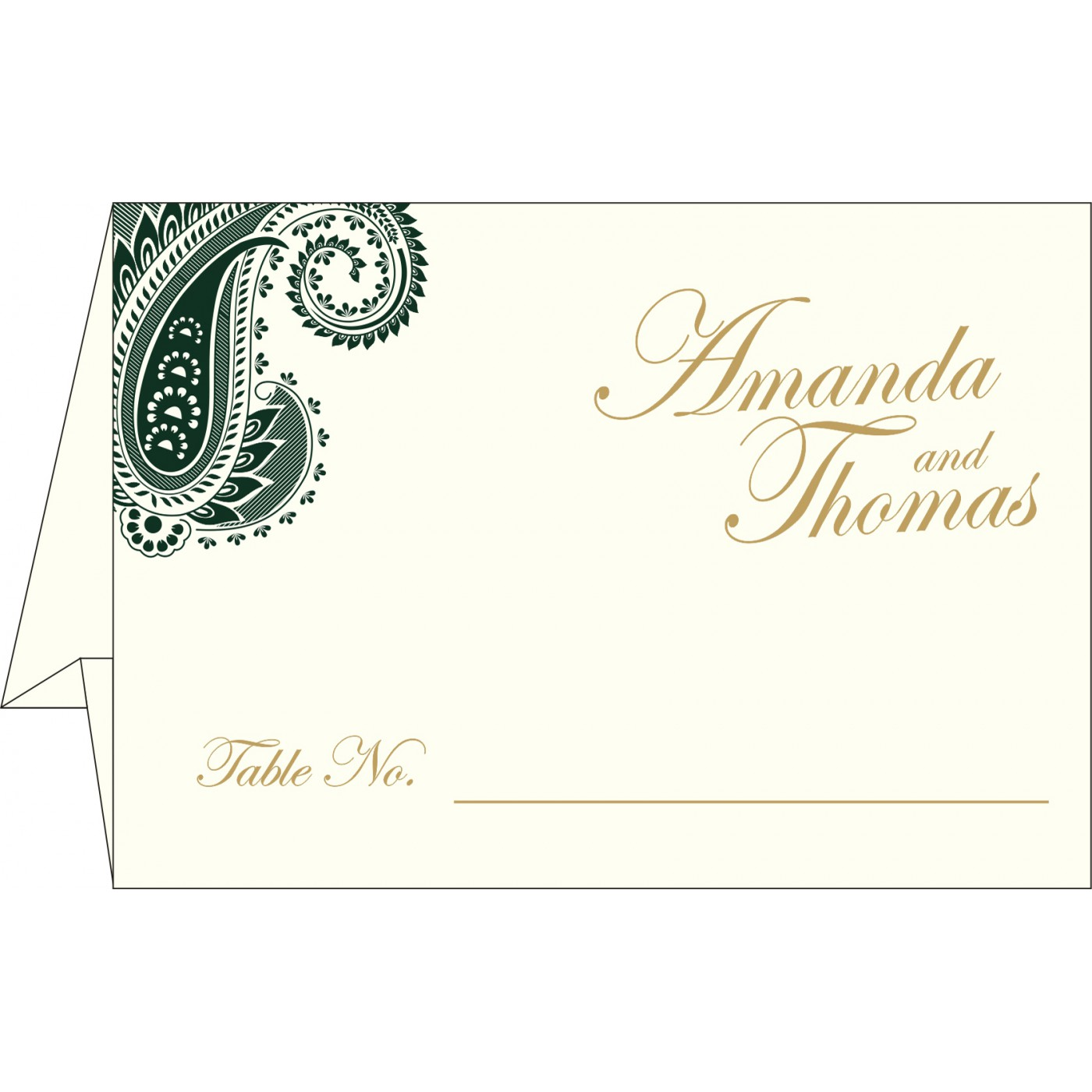 Table Cards : CTC-8250C - IndianWeddingCards