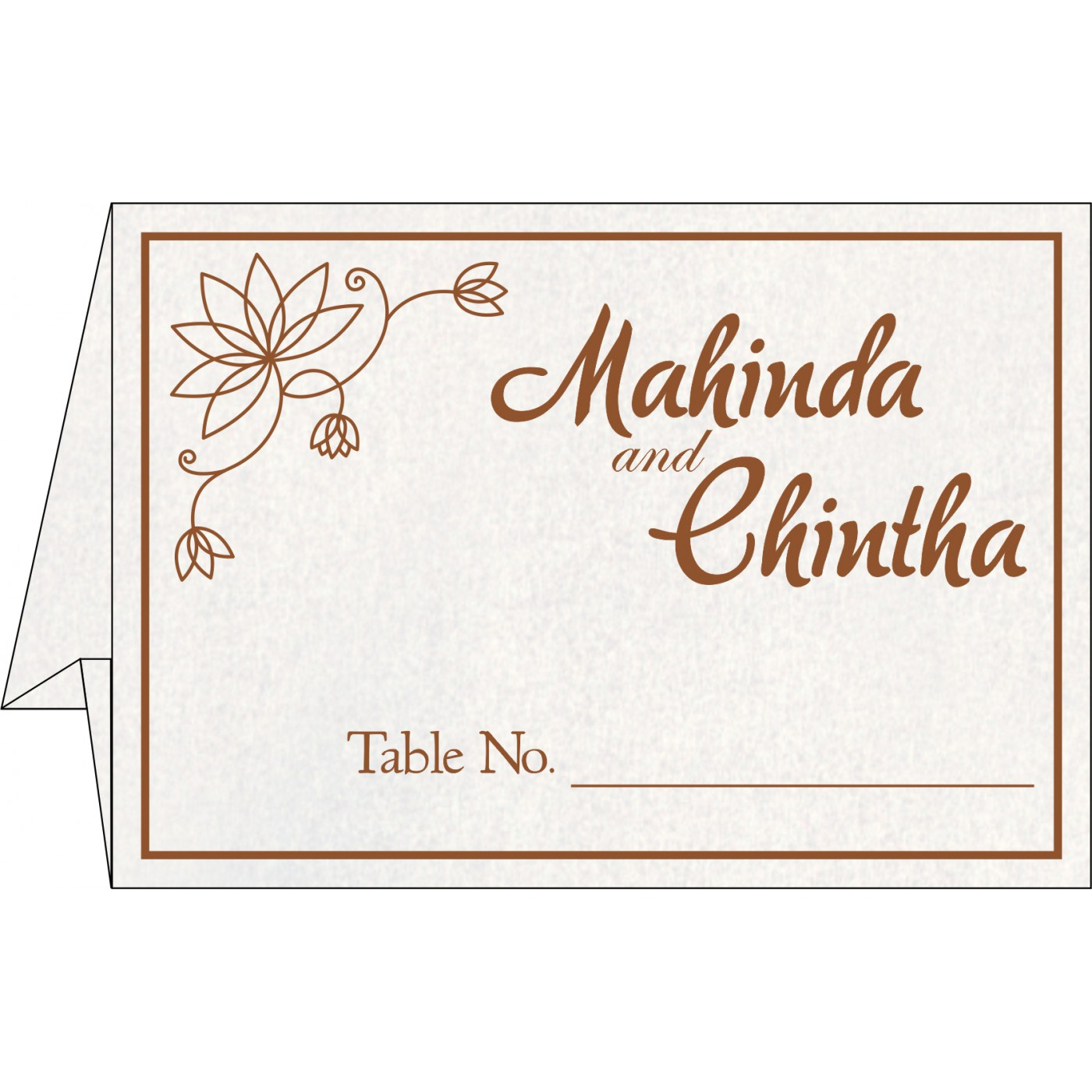 Table Cards : CTC-8251M - IndianWeddingCards
