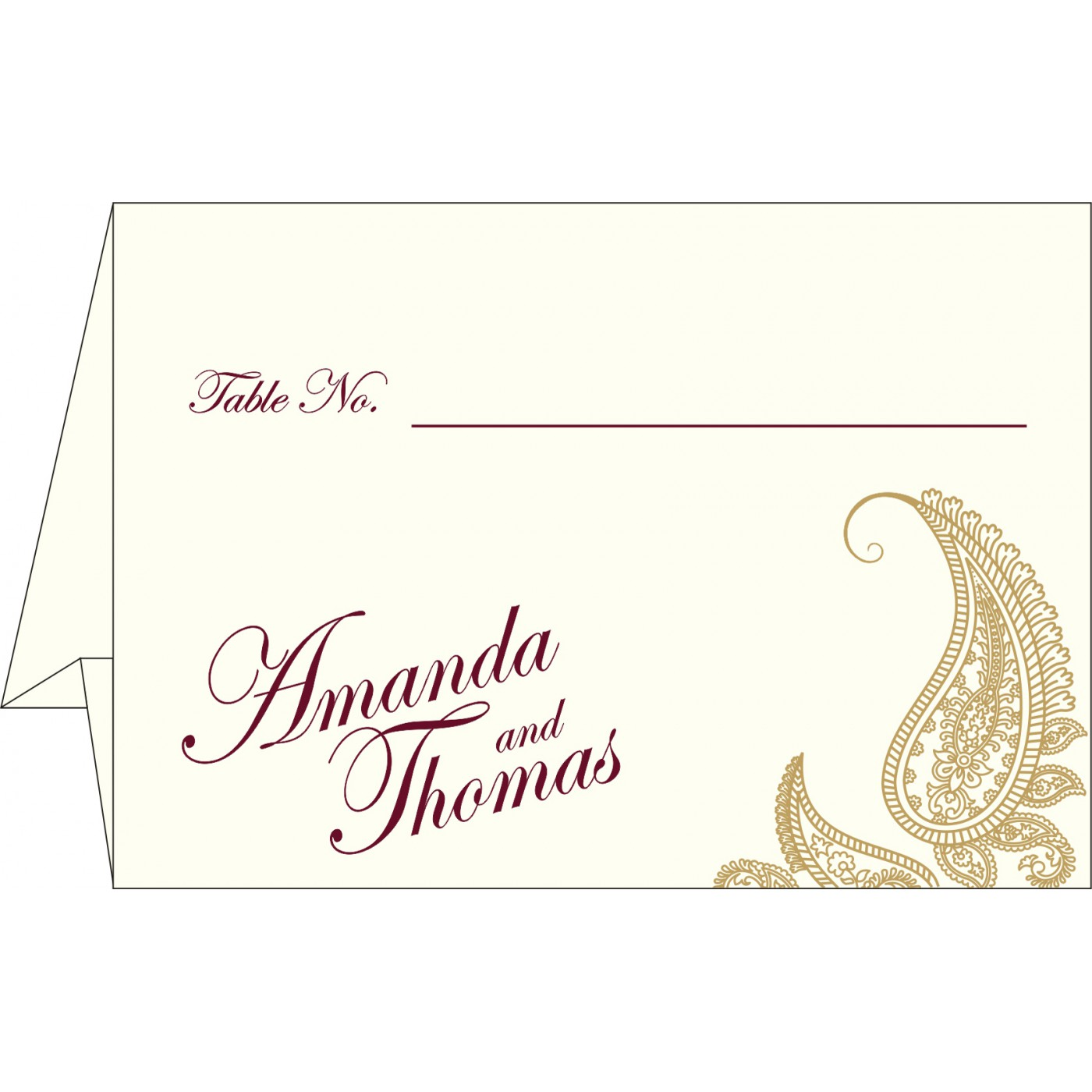 Table Cards : CTC-8252A - IndianWeddingCards