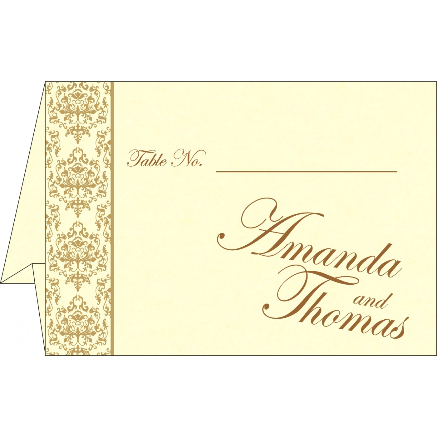 Table Cards : CTC-8253A - IndianWeddingCards