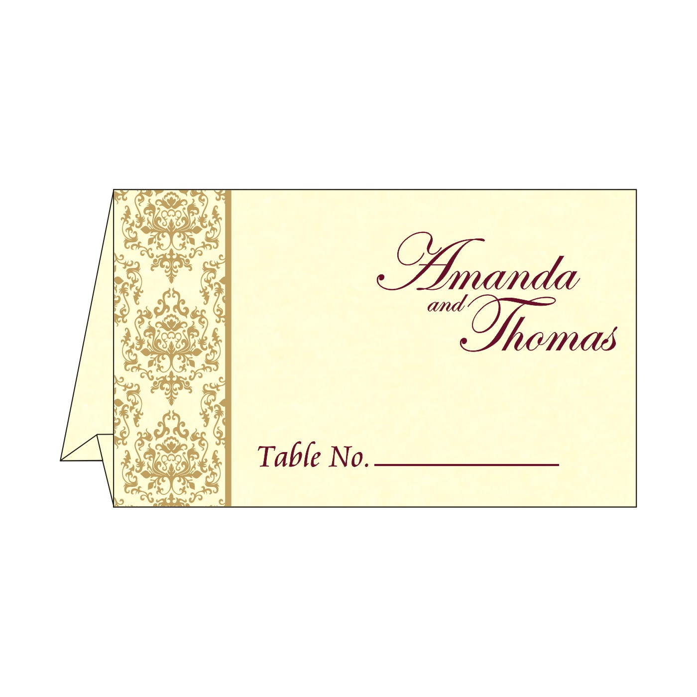 Table Cards : CTC-8253F - IndianWeddingCards