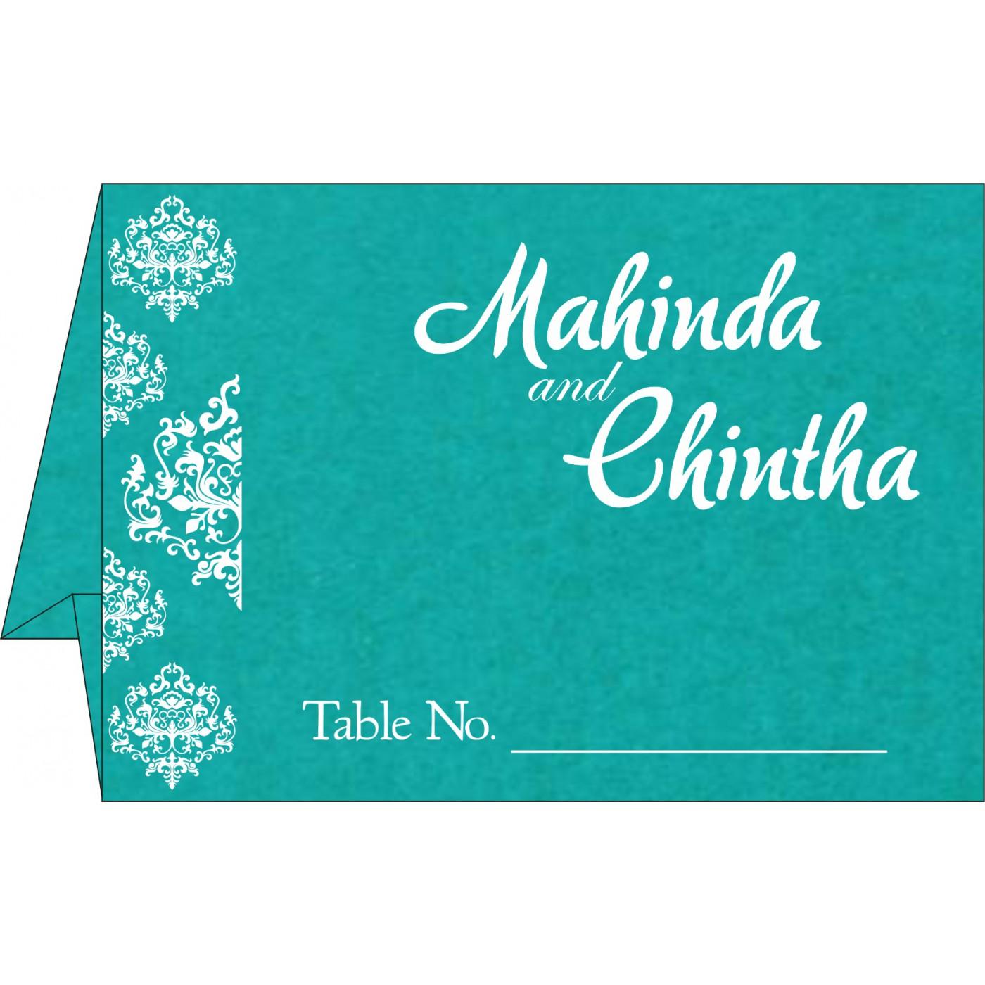 Table Cards : CTC-8254E - IndianWeddingCards