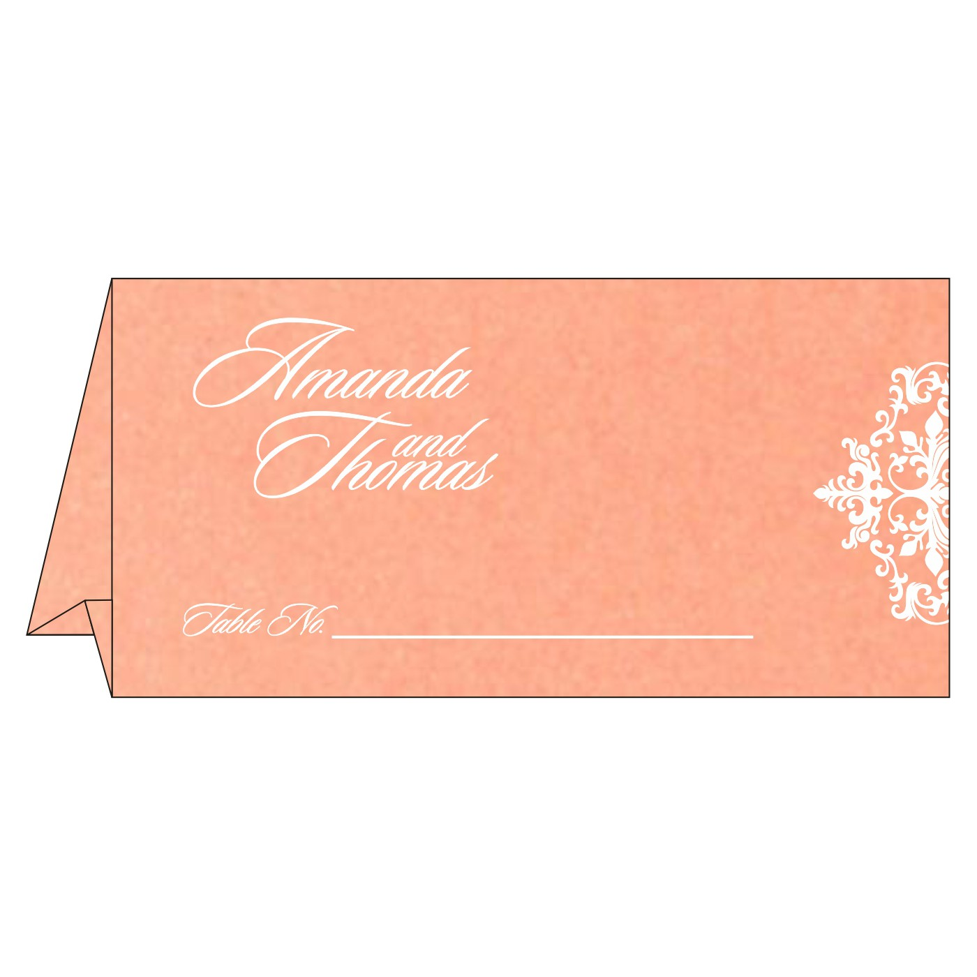 Table Cards : CTC-8254G - IndianWeddingCards