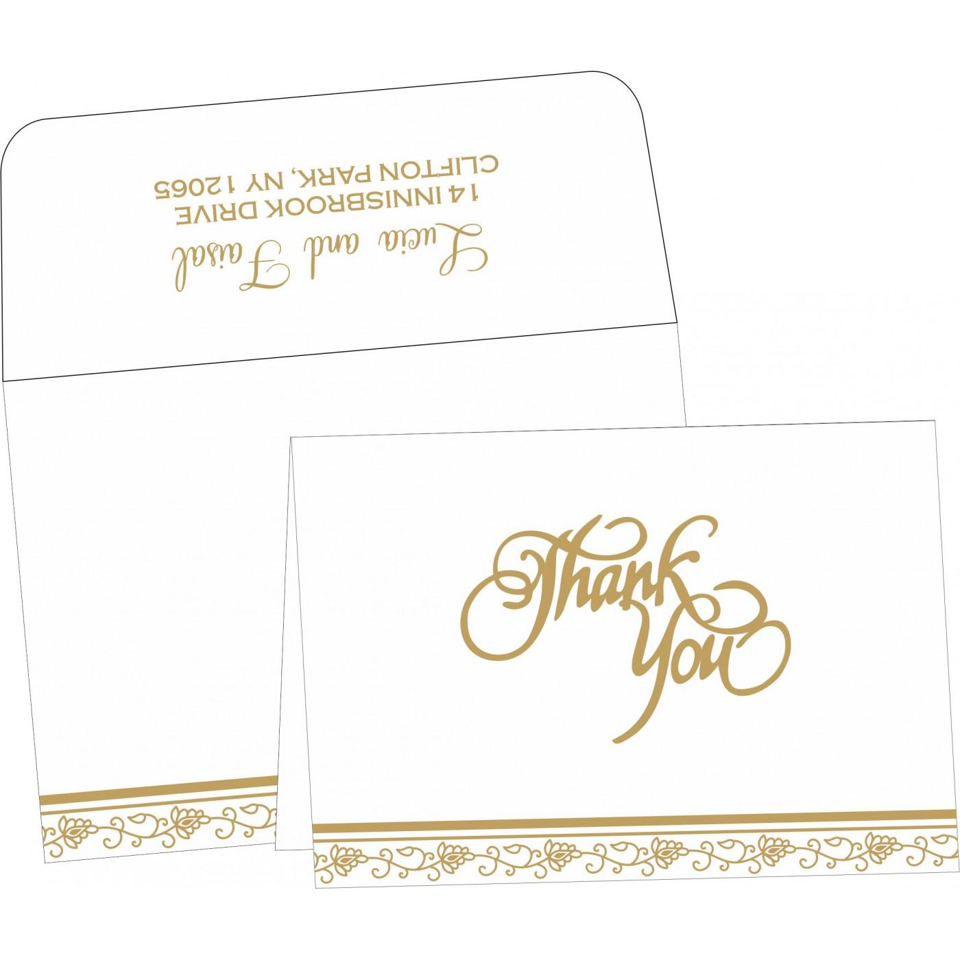 Thank You Cards : CTYC-1171 - IndianWeddingCards