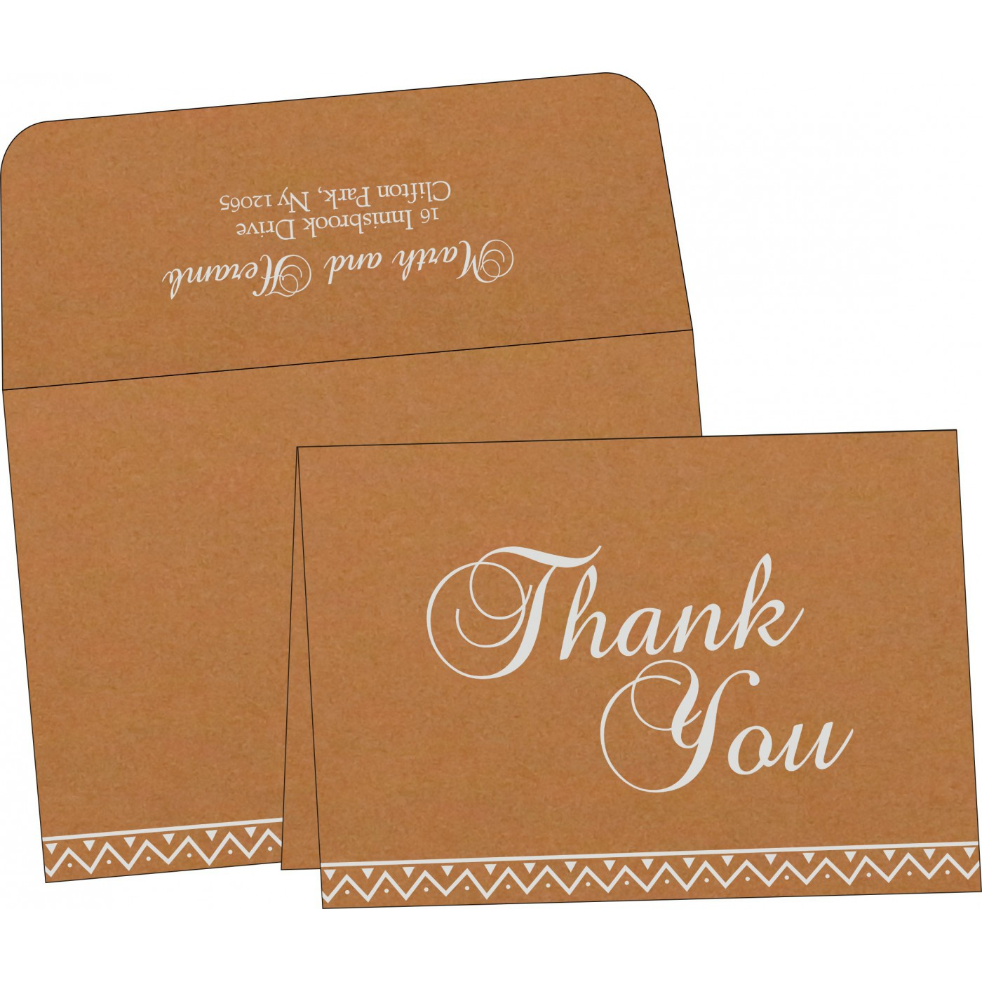 Thank You Cards : CTYC-1178 - IndianWeddingCards