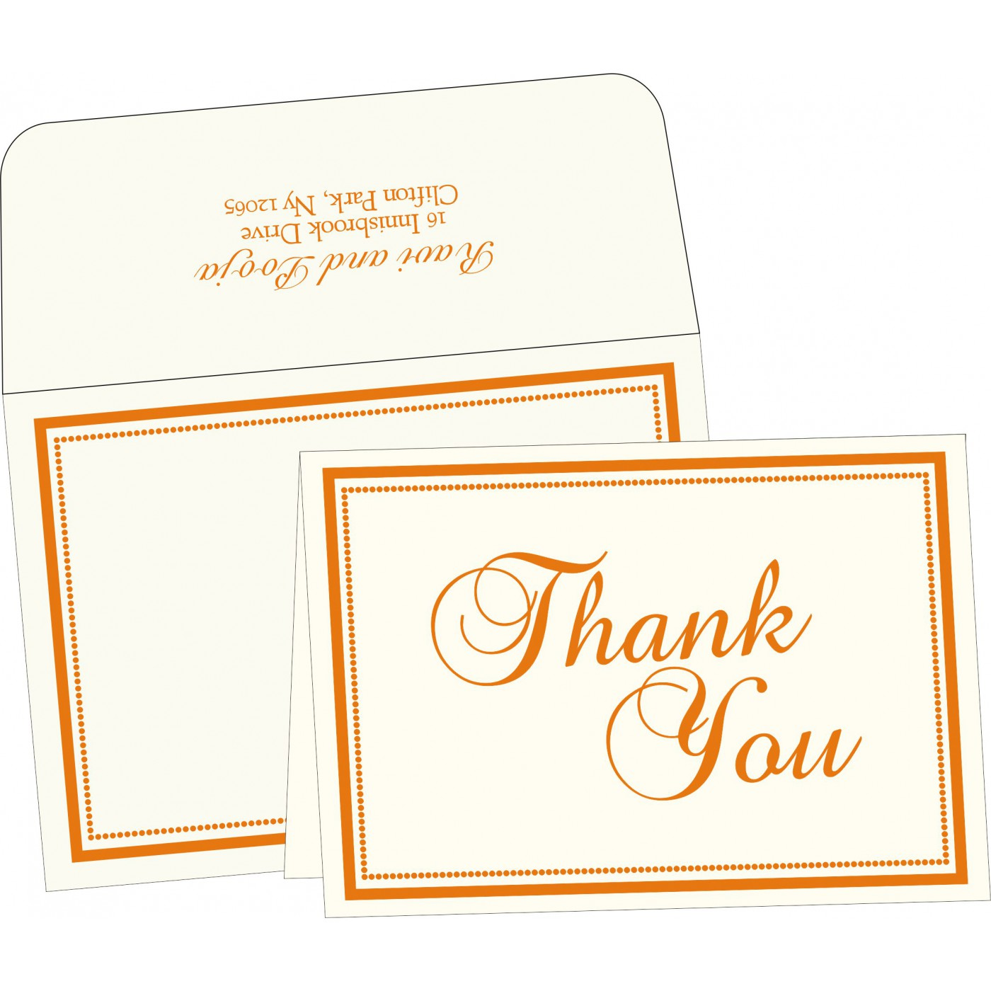 Thank You Cards : CTYC-1183 - IndianWeddingCards