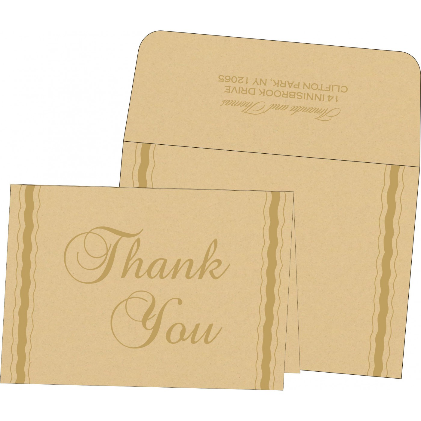 Thank You Cards : CTYC-1187 - IndianWeddingCards