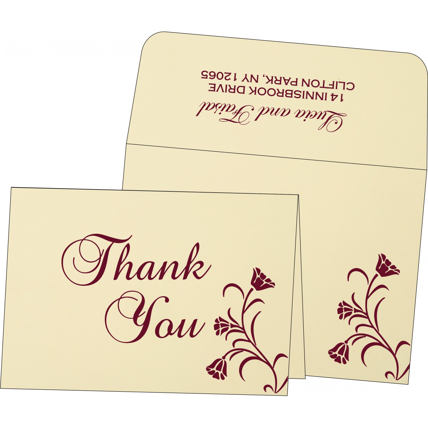 Thank You Cards : CTYC-1203 - IndianWeddingCards