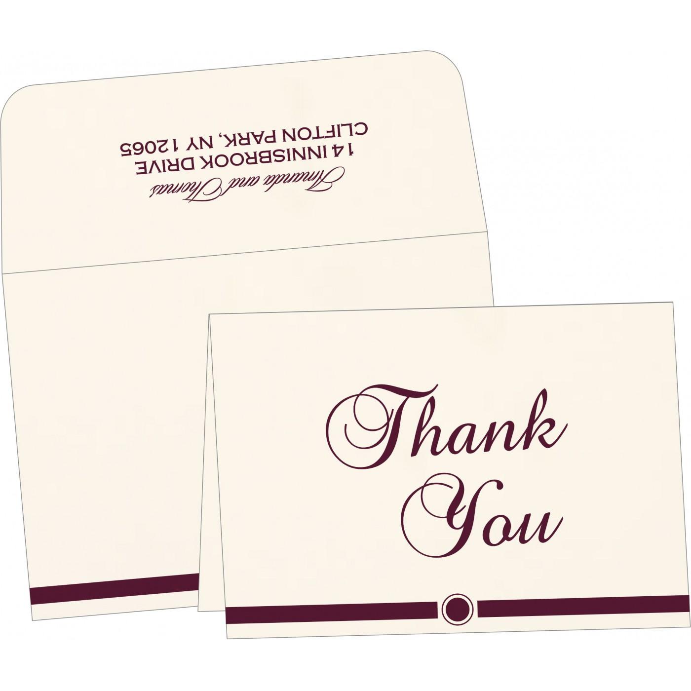 Thank You Cards : CTYC-1204 - IndianWeddingCards