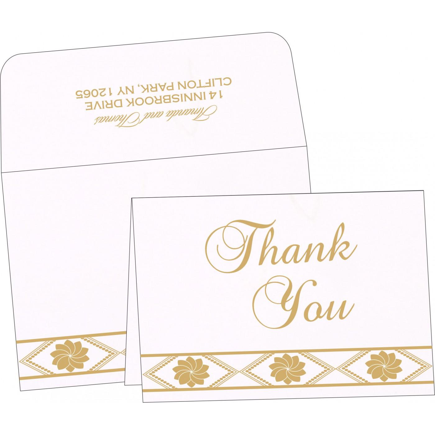 Thank You Cards : CTYC-1228 - IndianWeddingCards