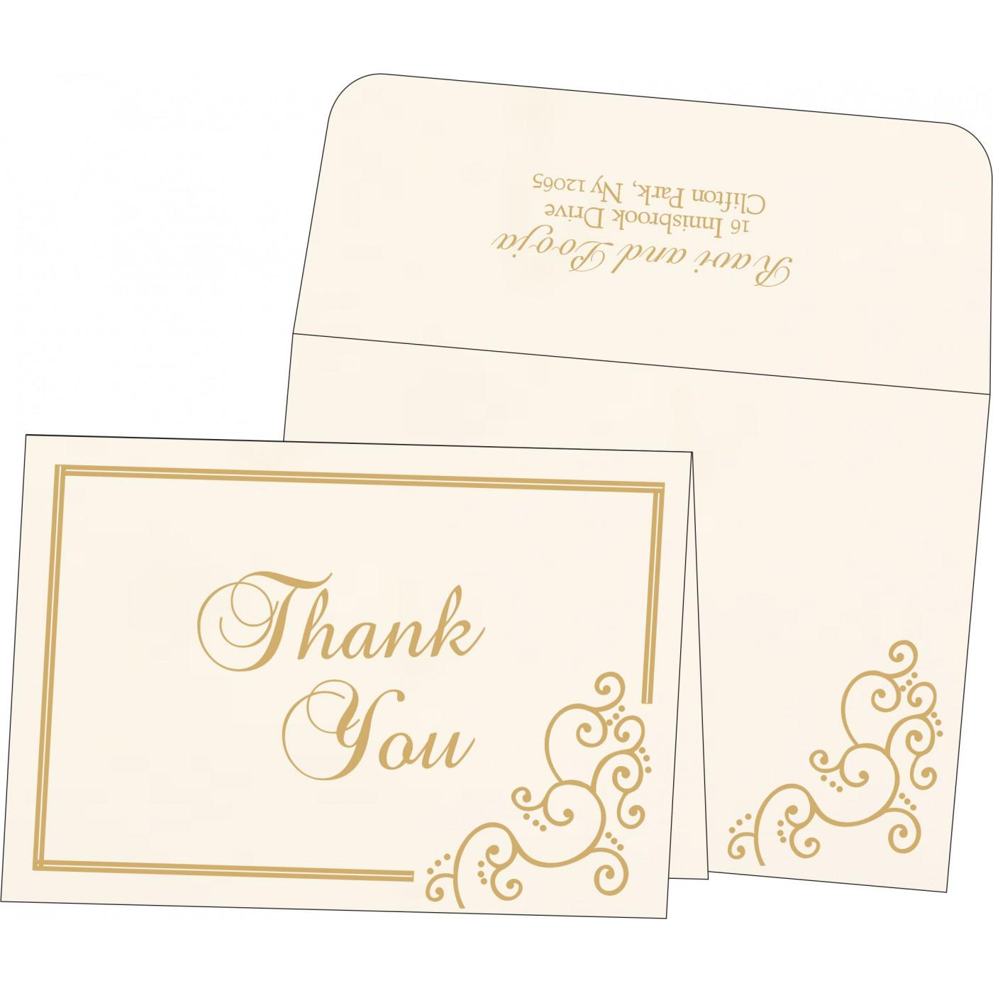 Thank You Cards : CTYC-1236 - IndianWeddingCards