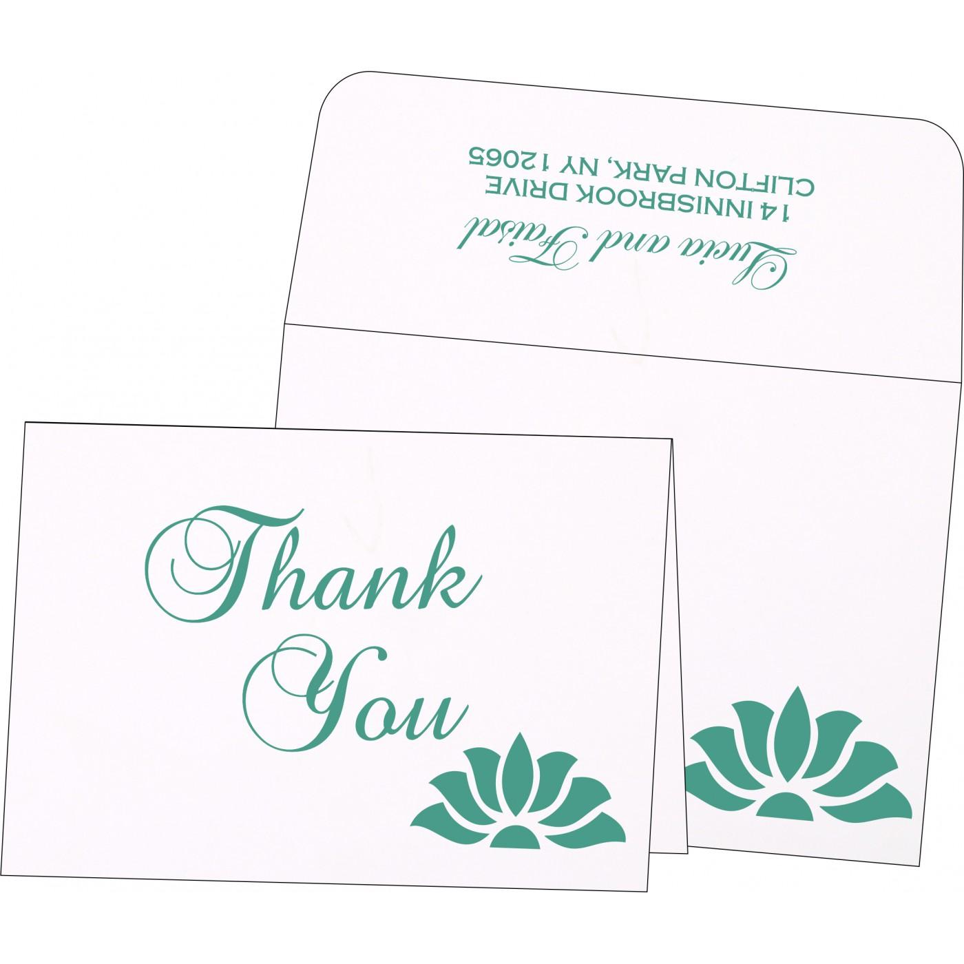 Thank You Cards : CTYC-1254 - IndianWeddingCards