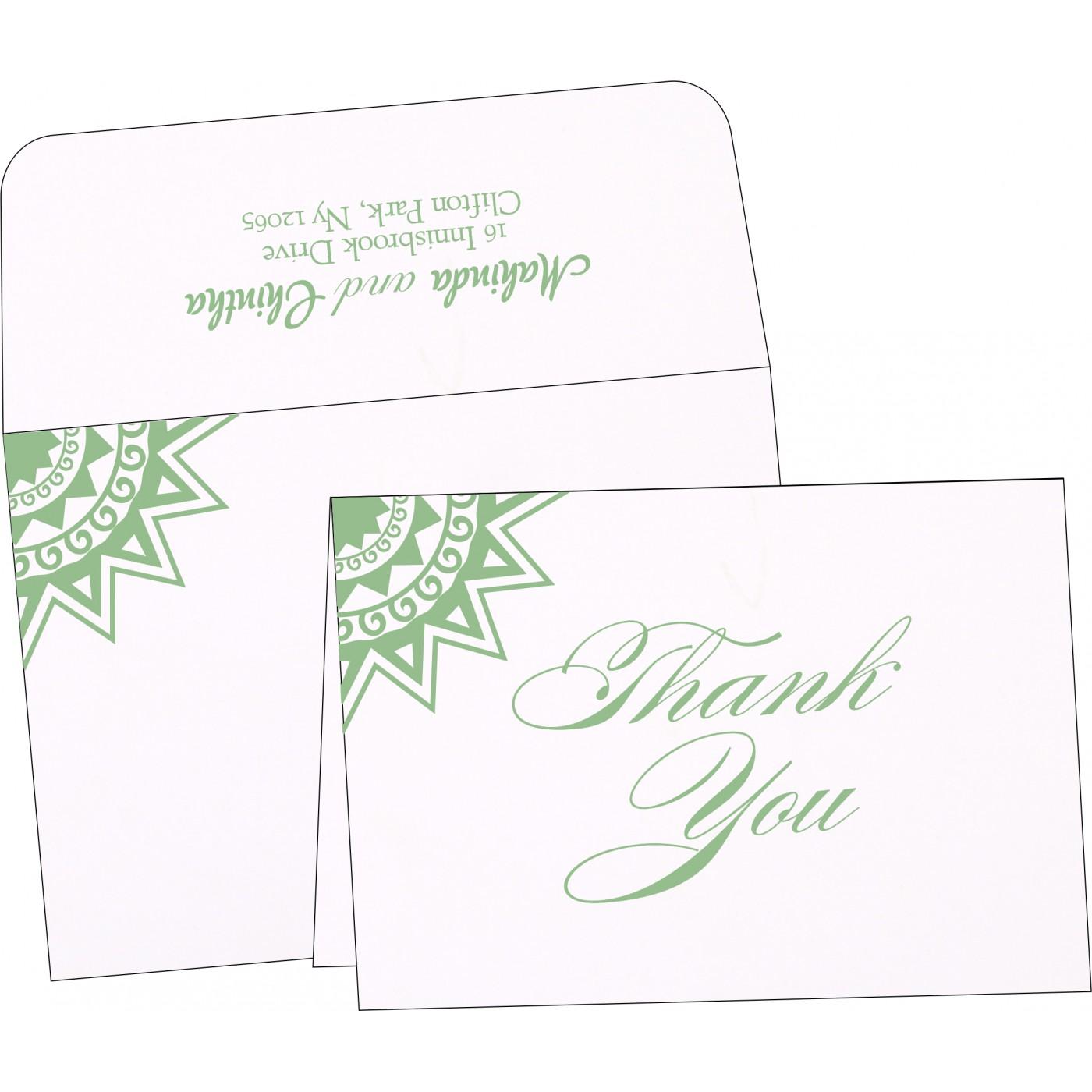 Thank You Cards : CTYC-1266 - IndianWeddingCards