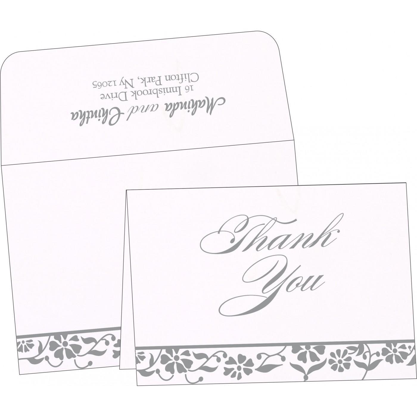 Thank You Cards : CTYC-1291 - IndianWeddingCards