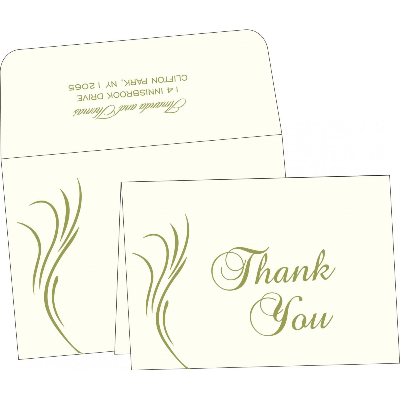 Thank You Cards : CTYC-1317 - IndianWeddingCards