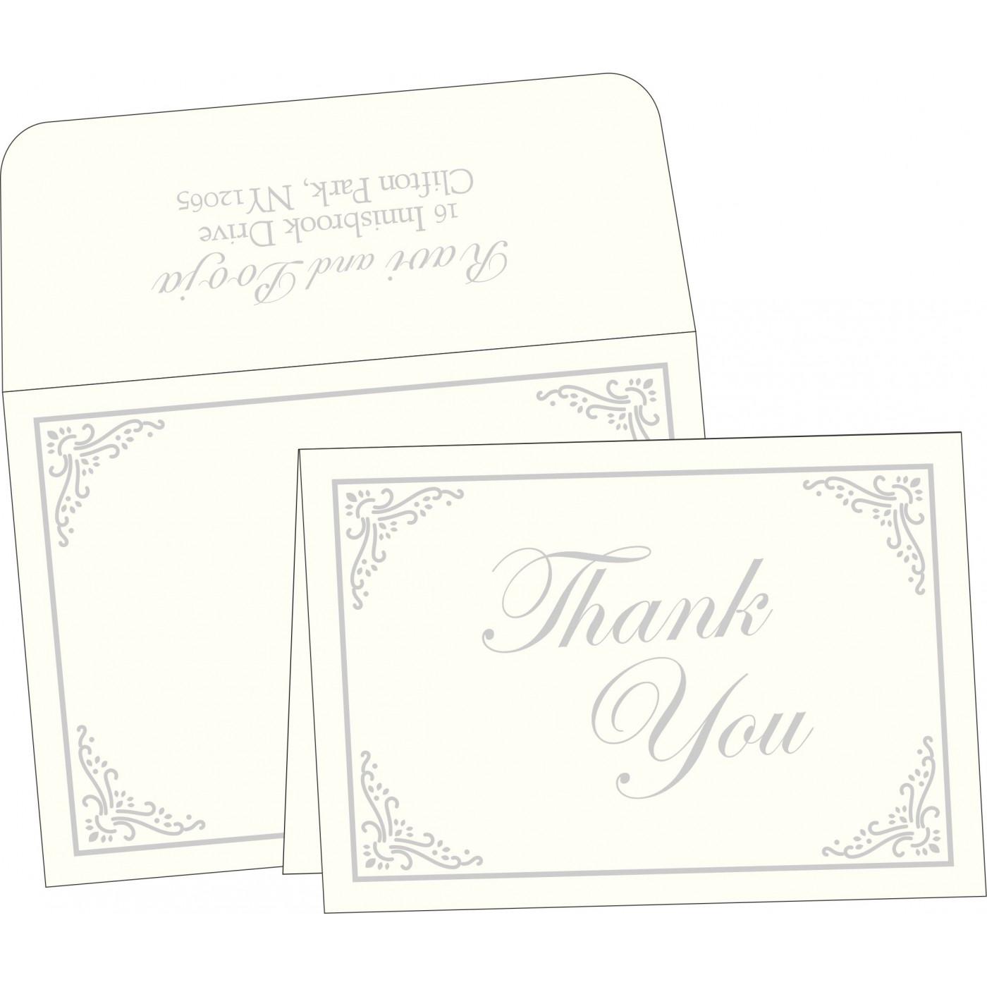 Thank You Cards : CTYC-1325 - IndianWeddingCards