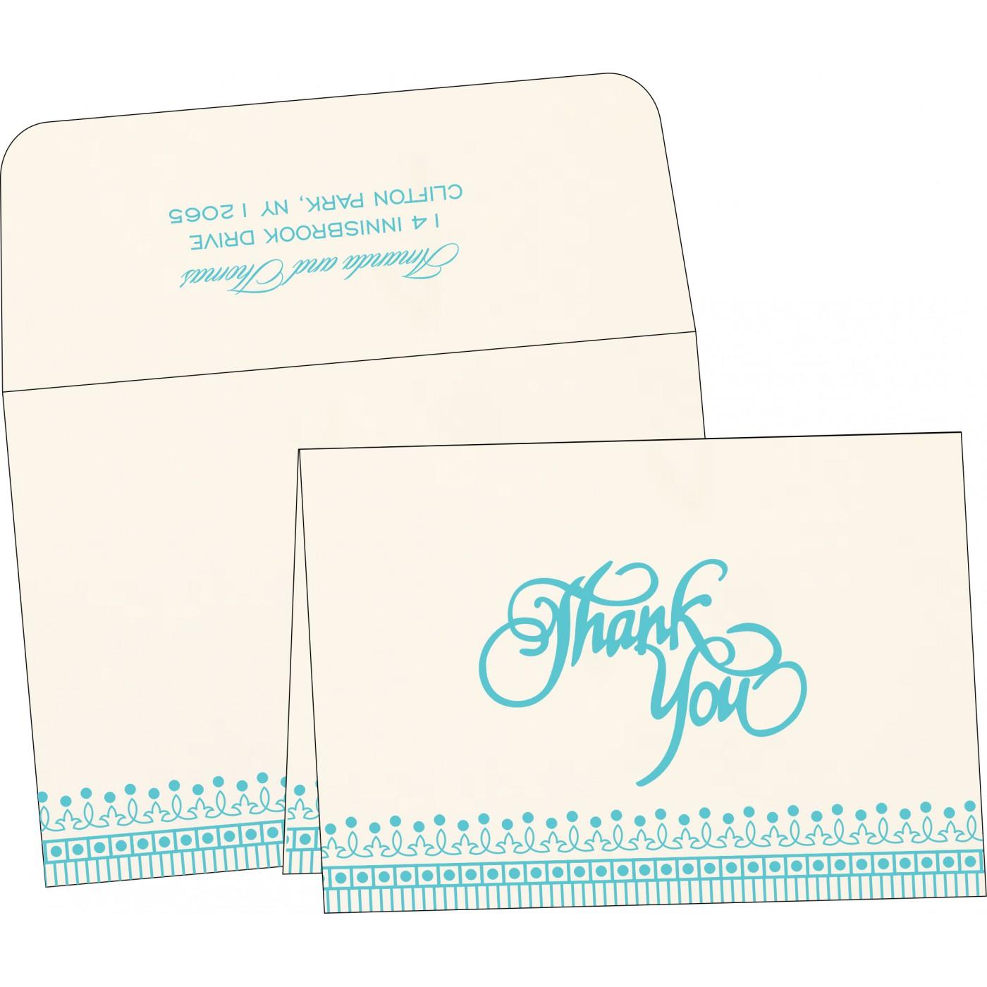 Thank You Cards : CTYC-1338 - IndianWeddingCards