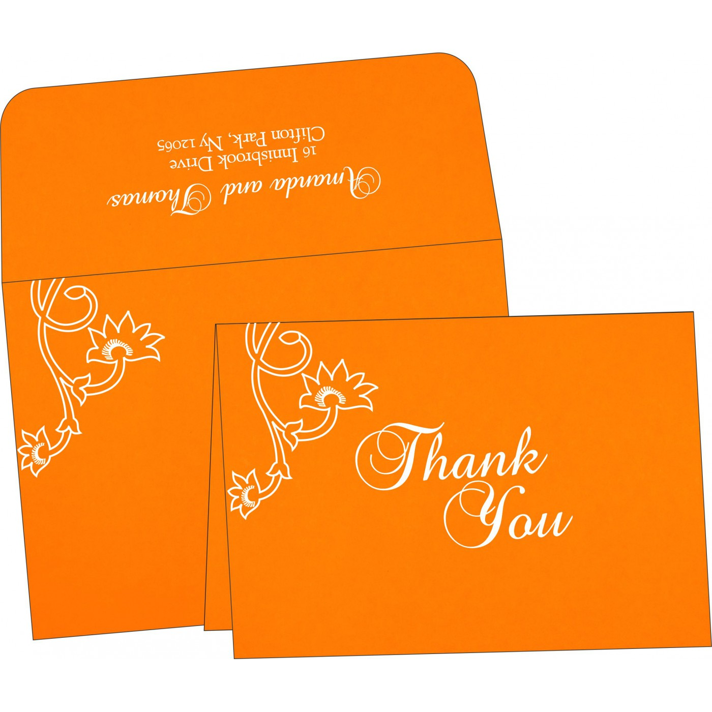 Thank You Cards : CTYC-1346 - IndianWeddingCards