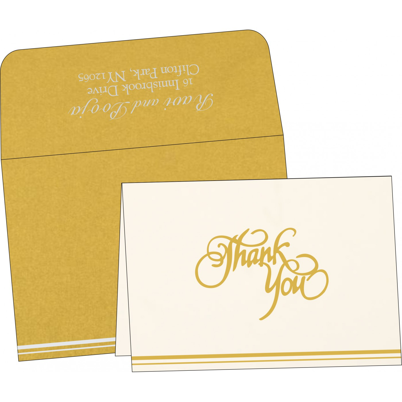 Thank You Cards : CTYC-1350 - IndianWeddingCards