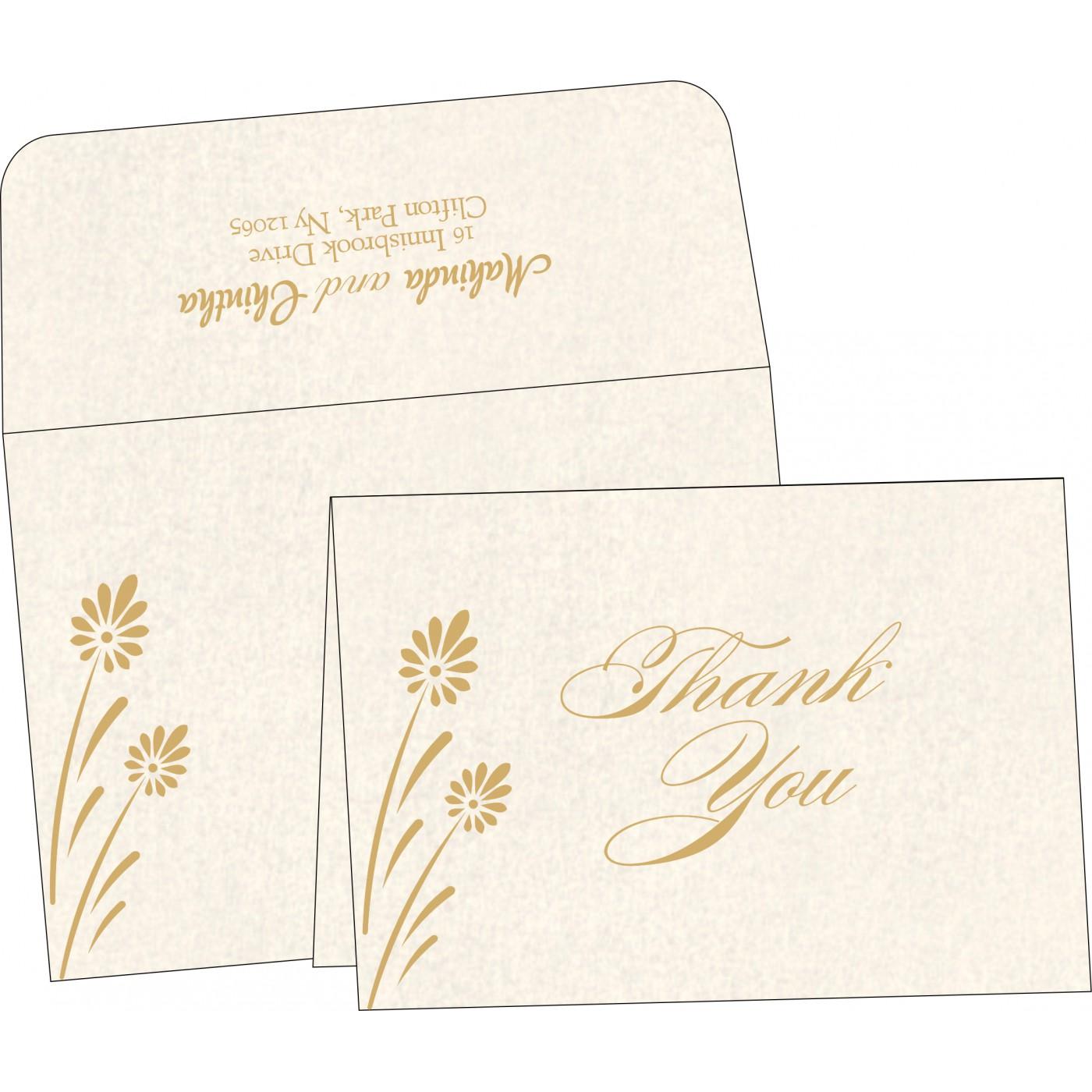 Thank You Cards : CTYC-1372 - IndianWeddingCards
