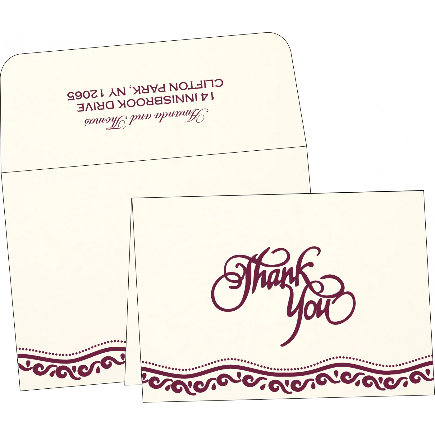 Thank You Cards : CTYC-1375 - IndianWeddingCards
