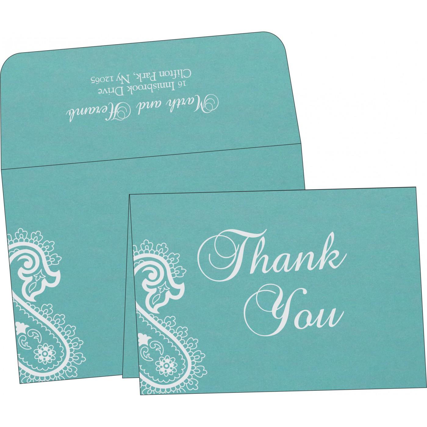 Thank You Cards : CTYC-1382 - IndianWeddingCards