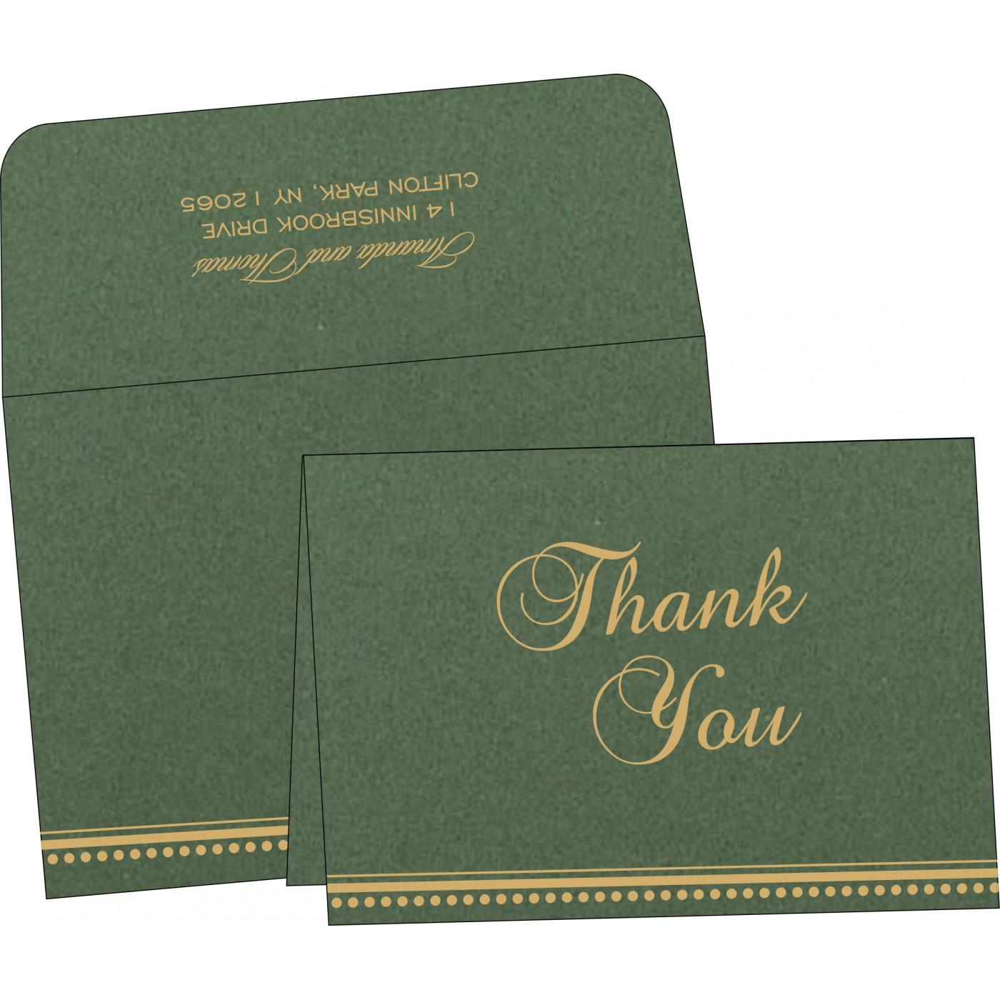 Thank You Cards : CTYC-1388 - IndianWeddingCards