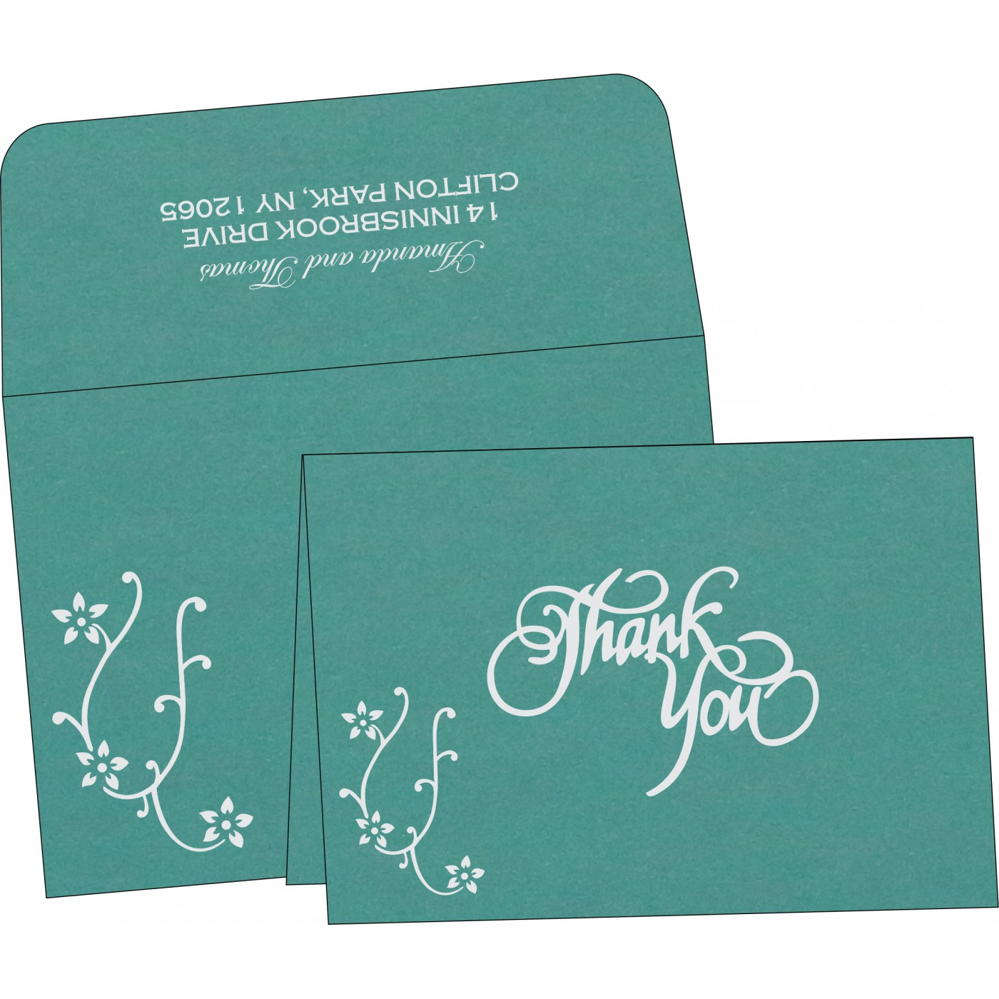 Thank You Cards : CTYC-1400 - IndianWeddingCards