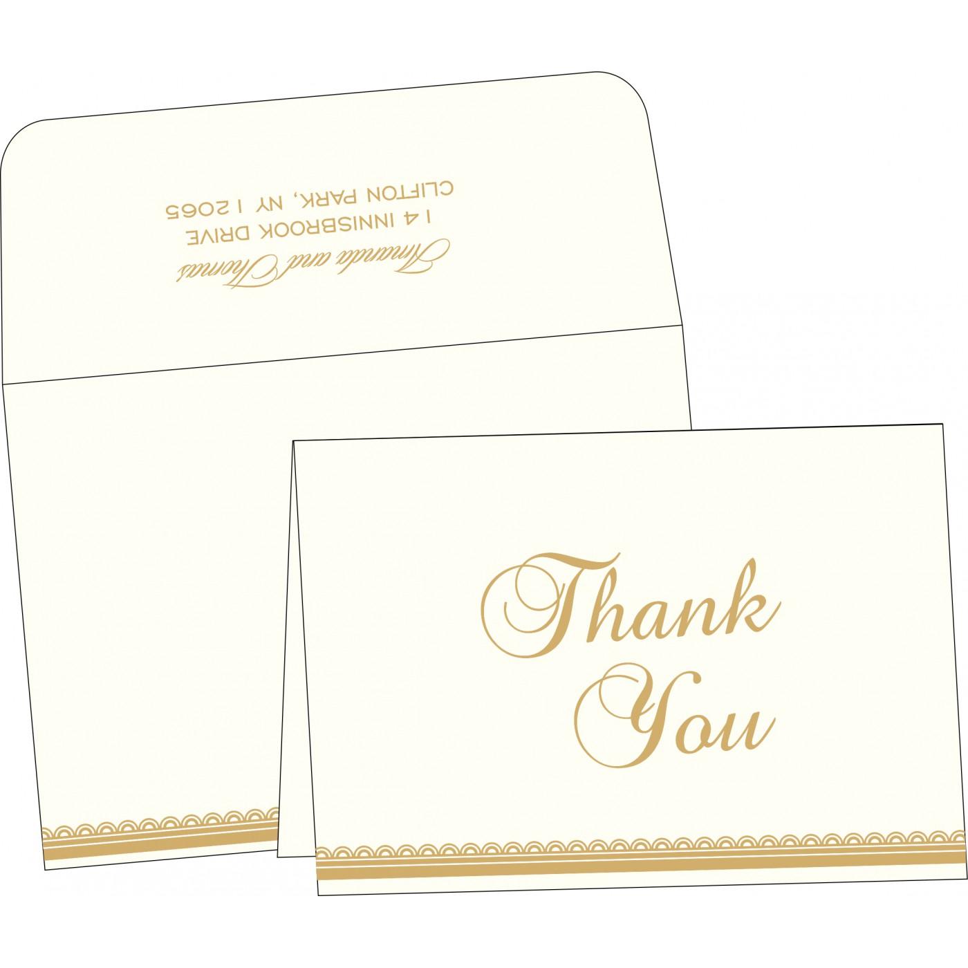 Thank You Cards : CTYC-1402 - IndianWeddingCards