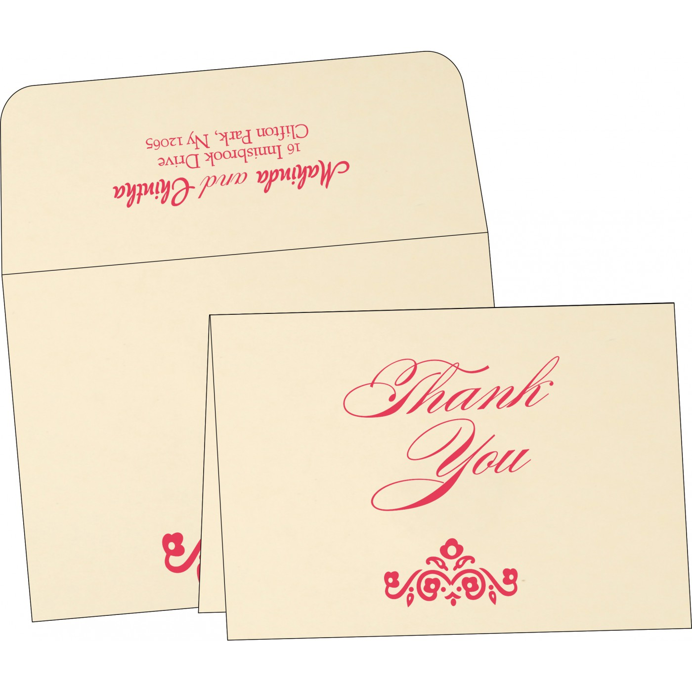 Thank You Cards : CTYC-1407 - IndianWeddingCards