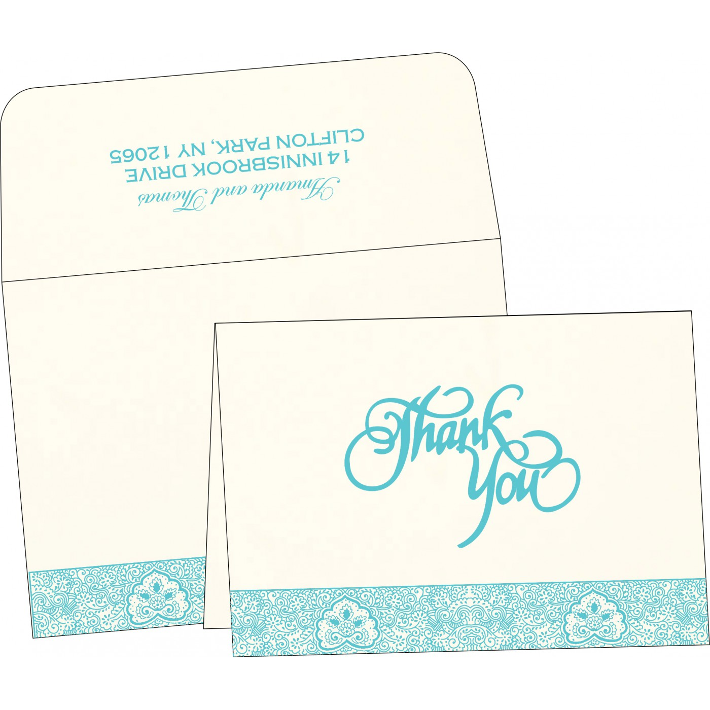 Thank You Cards : CTYC-1410 - IndianWeddingCards