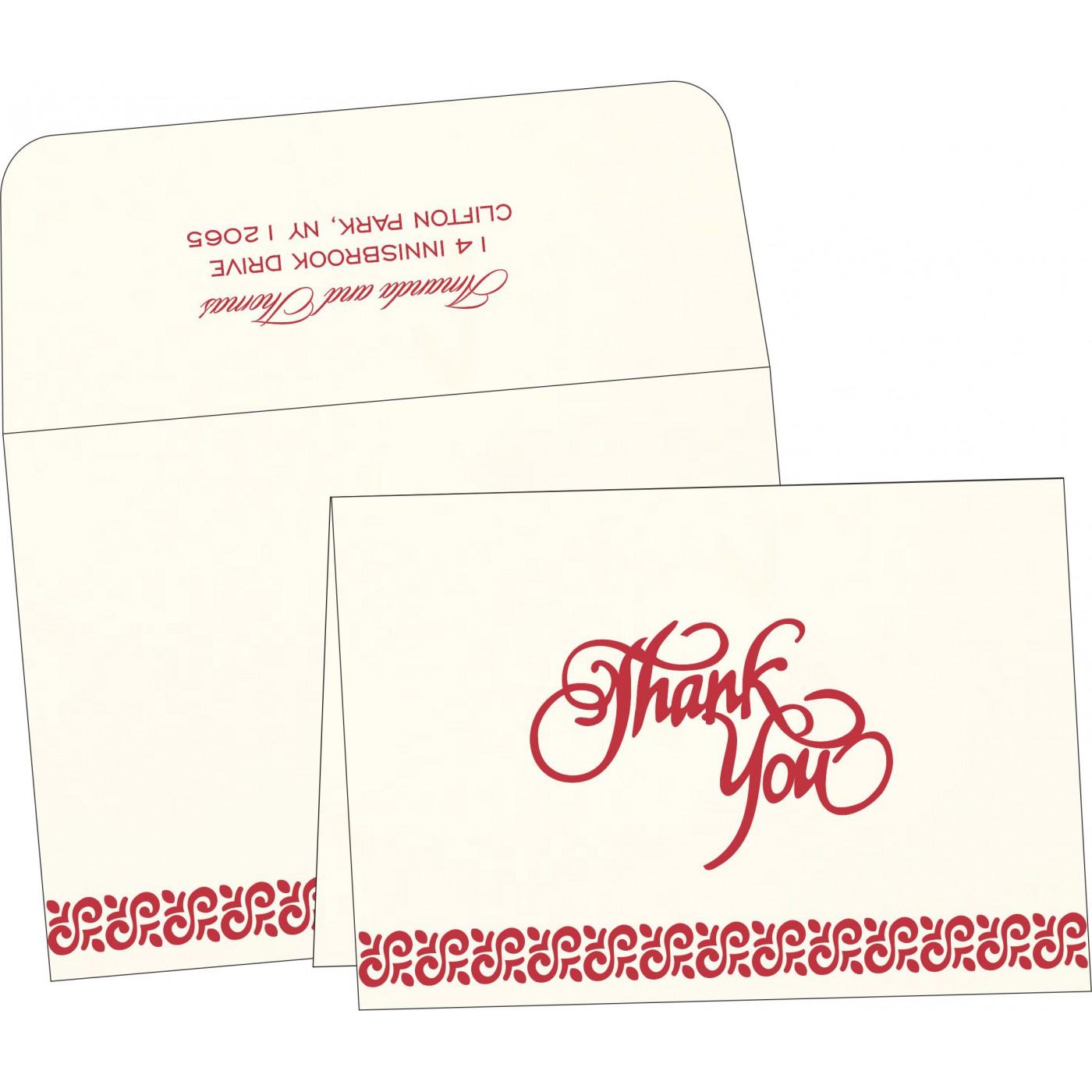 Thank You Cards : CTYC-1411 - IndianWeddingCards