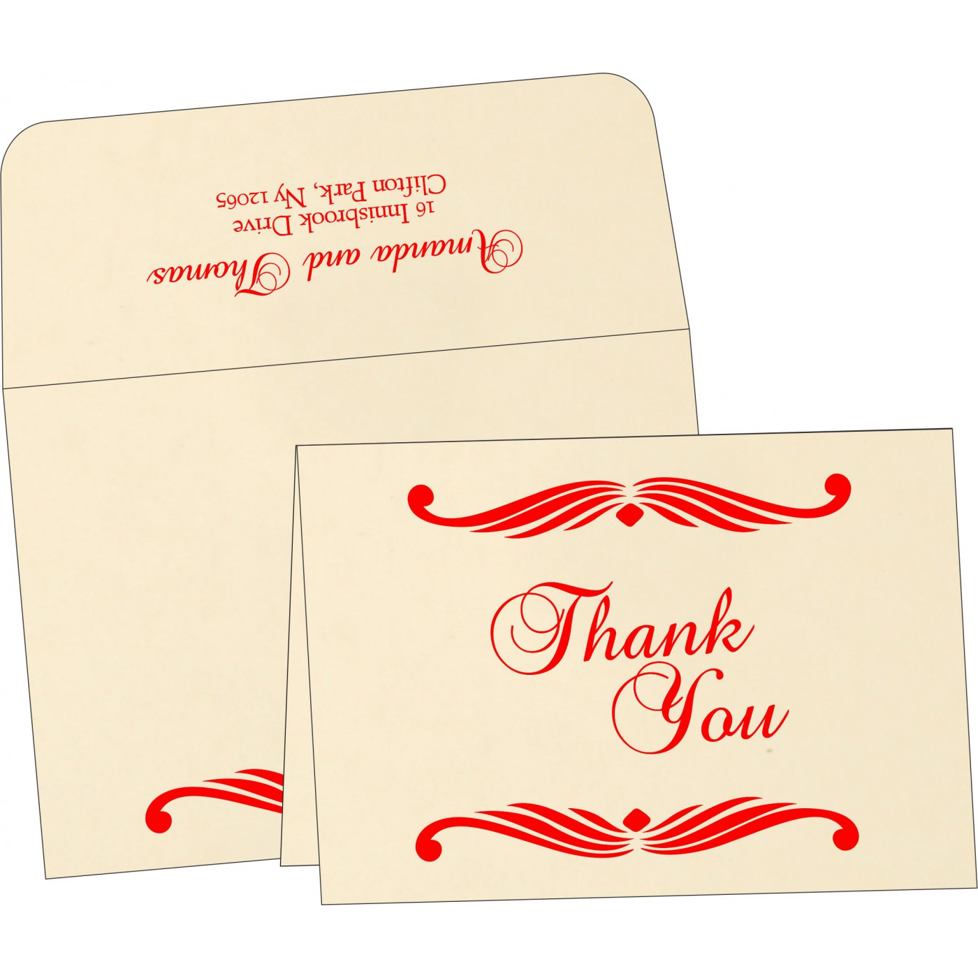 Thank You Cards : CTYC-1412 - IndianWeddingCards