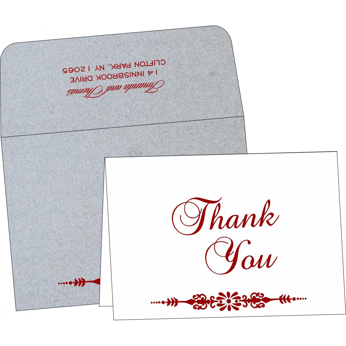 Thank You Cards : CTYC-1427 - IndianWeddingCards