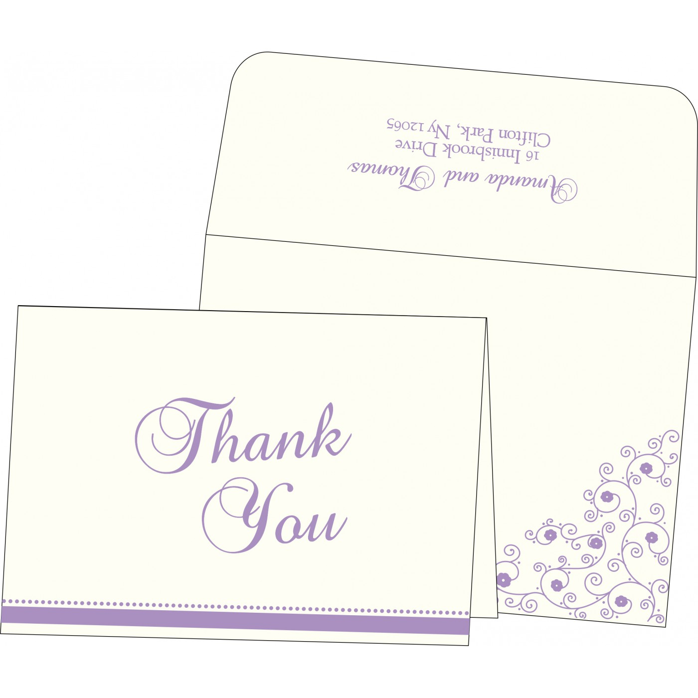 Thank You Cards : CTYC-1431 - IndianWeddingCards