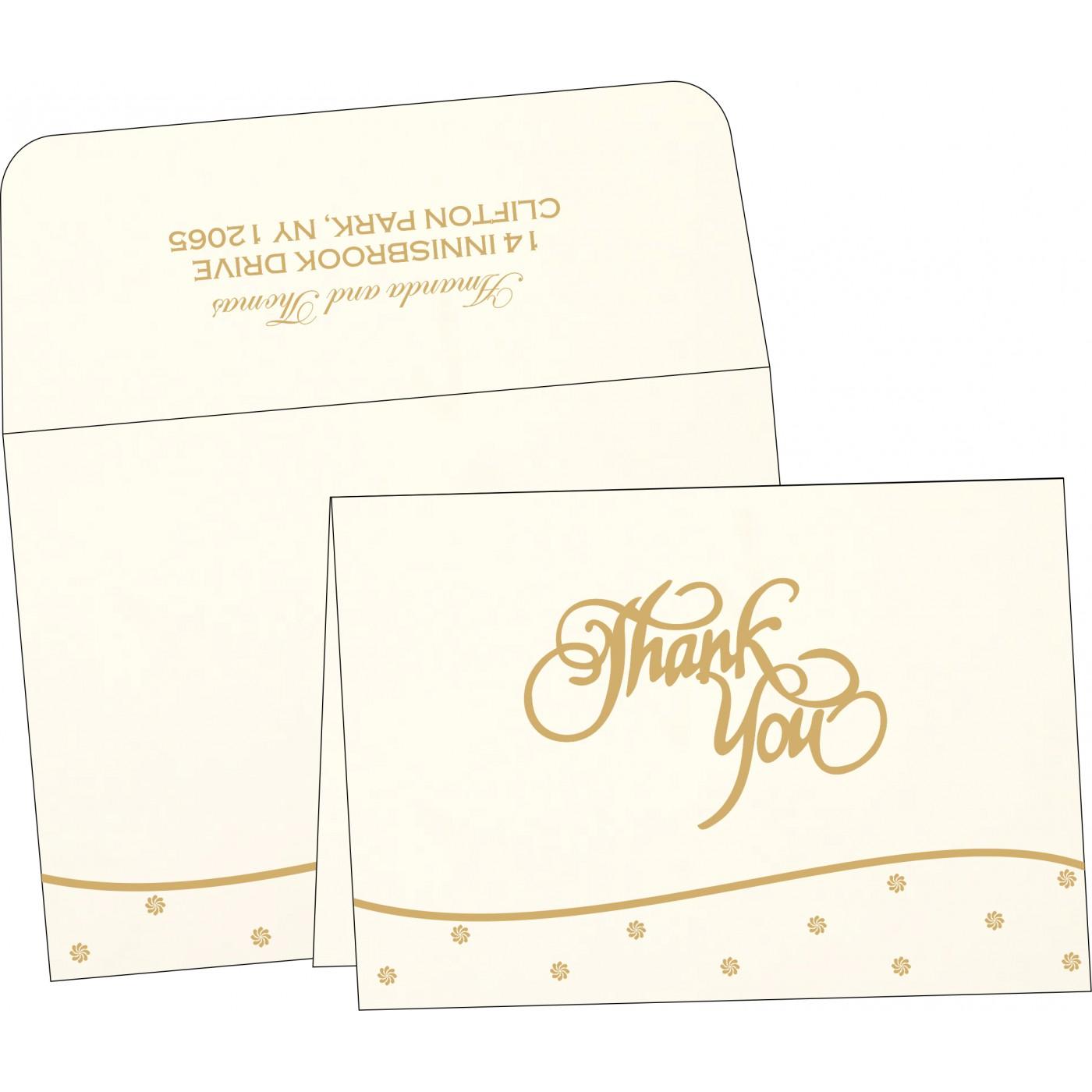 Thank You Cards : CTYC-1435 - IndianWeddingCards